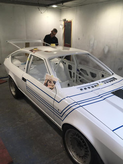 Adding stripes to the john west car in the traditional way