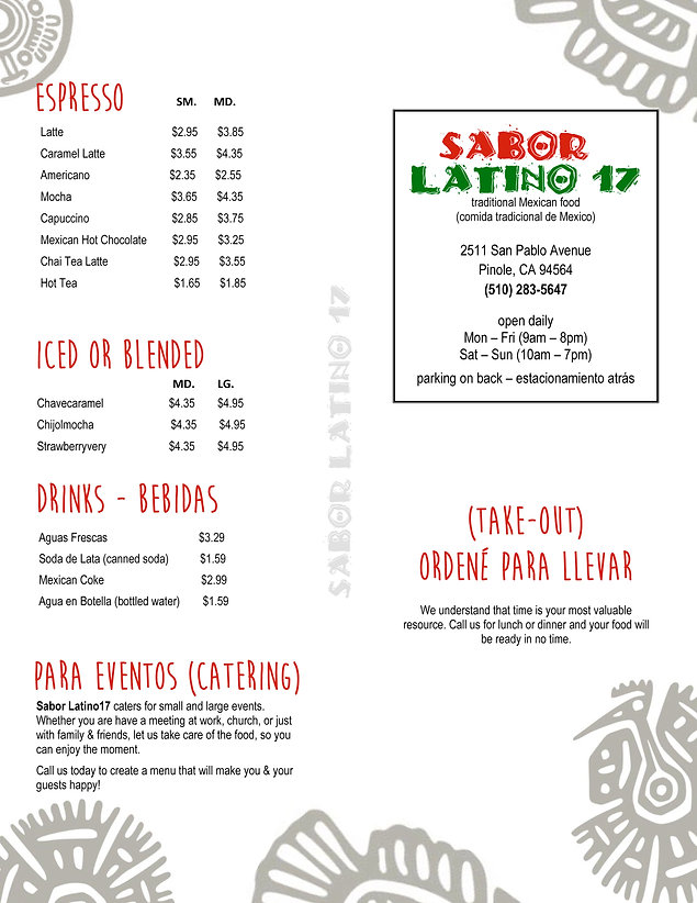Menu - Sabor Latino Outside (May 2020).j