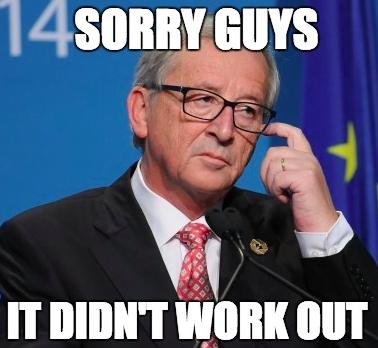 Jean-Claude Juncker est désolée, l'UE n'arrive pas à résoudre le problème