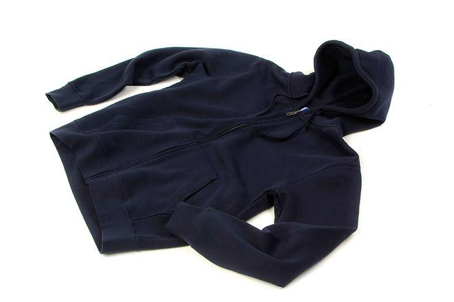 Sweat-à-capuche-homme-coton-mélangé-bleu