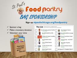 Food pantry bag sponsorship