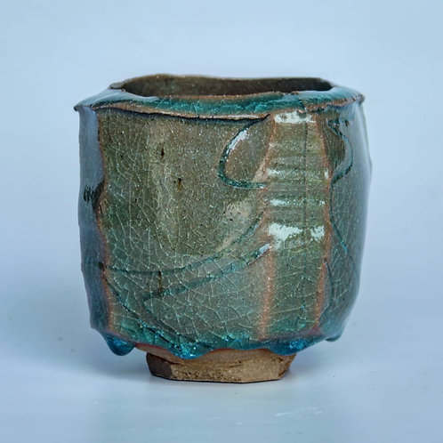 Faceted Celadon Cup