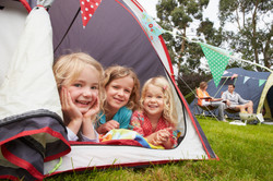 Kids with tent