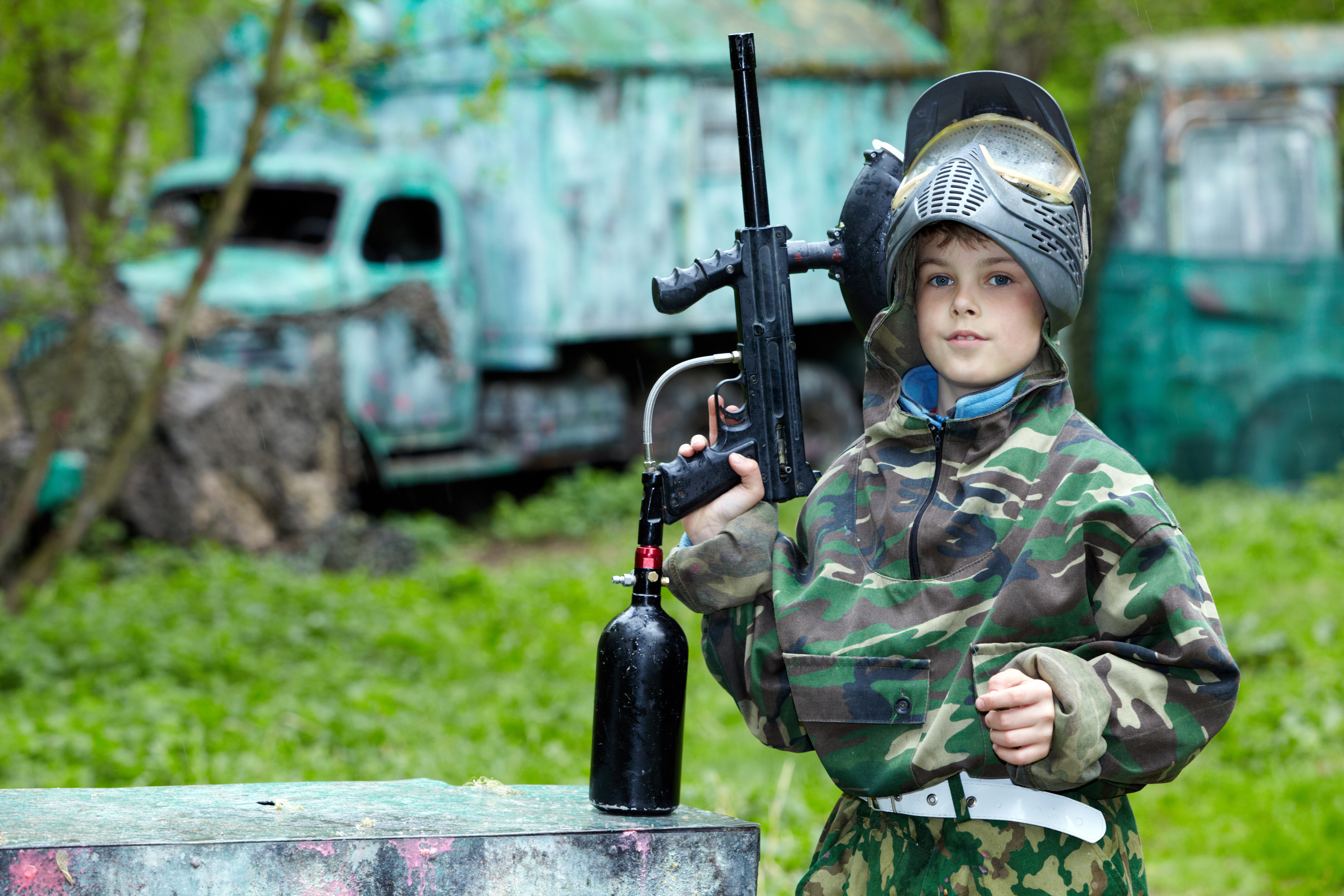 Paintball, a strategy game