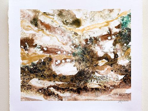 Where the river runs // Hand embellished Fine Art Print