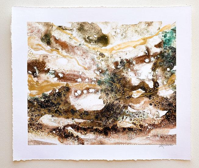 Where the river runs // Hand embellished Fine Art Print 12 x 16 inch