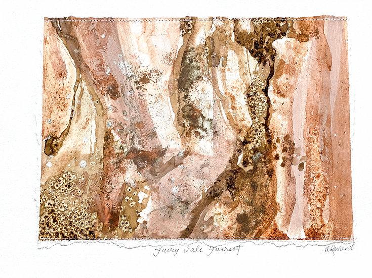 Fairy tale forest  // Original Mixed Media 42cm x 29cm