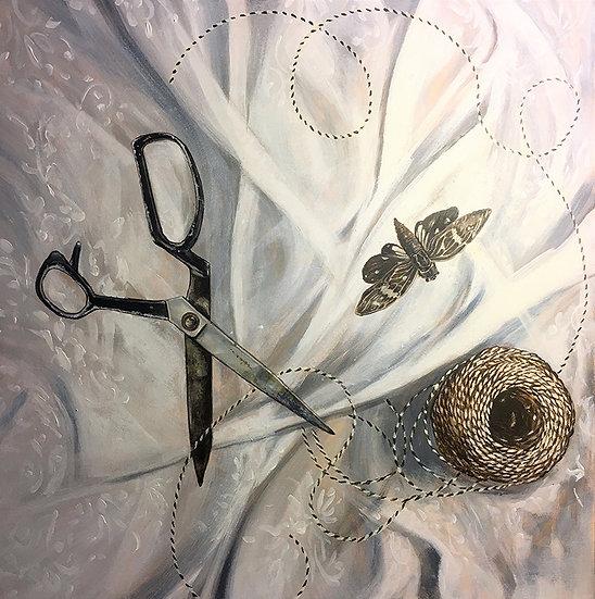 Ties that bind,  Acrylic Painting 60cm x 60cm