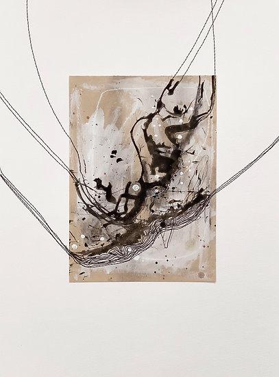 Making Waves // original mixed media on paper