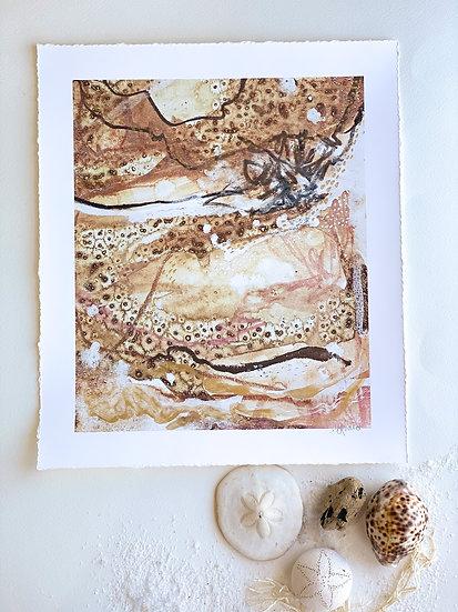 Walk this earth // Hand embellished Fine Art Print 10 x 12 inch