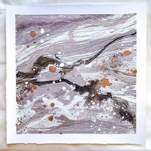 Hand Embellished Jasper Print 14 inch square