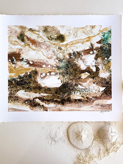 Down by the river // Hand embellished Fine Art Print 10 x 12inch