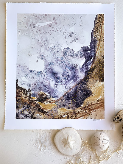 Deep water vision //Hand Embellished Fine Art Print 12 x 16