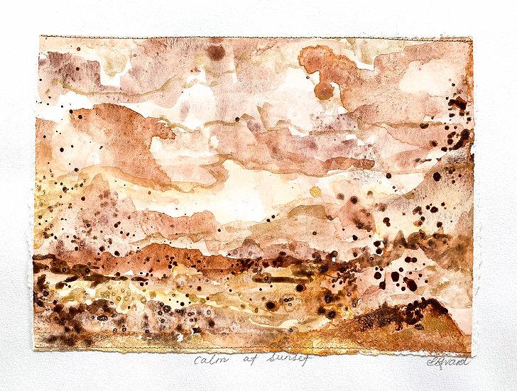 Calm at sunset // Original Mixed Media 42cm x 29cm