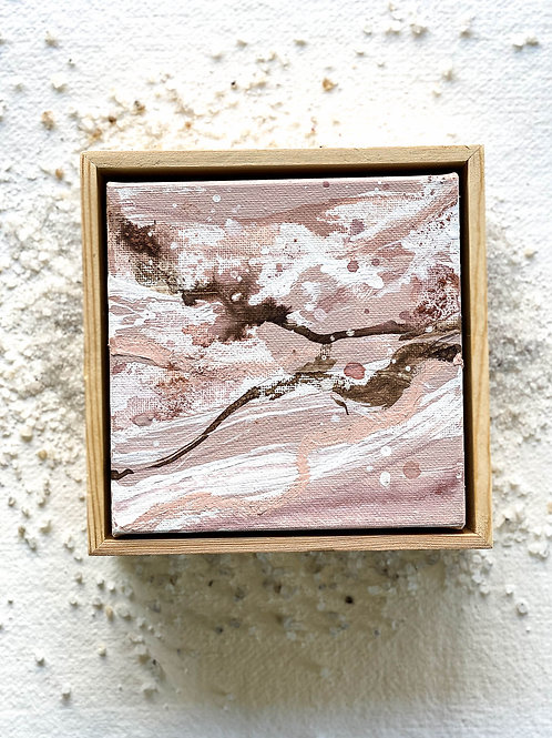 Intuition // Dream Weaver Abstract in Wooden Frame