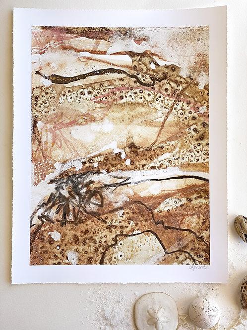 Cosmic Egg // Hand embellished Fine Art Print 12 x 16 inch