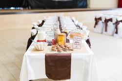 mariage wedding chocolat decoration marron  (21)