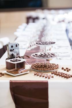 mariage wedding chocolat decoration marron  (2)