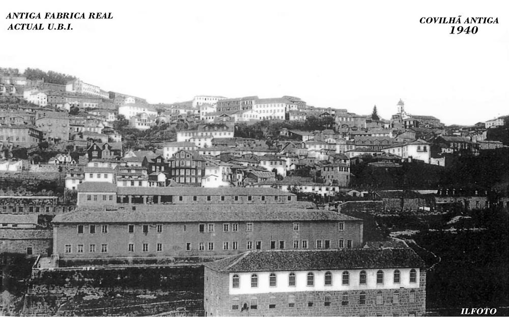 Vista da antiga Real Fábrica de Panos junto à Ribeira da Degoldra onde atualmente é a Universidade da Beira Interior e Museu de Lanifícios