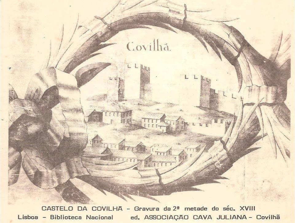 Antiga gravura do Castelo da Covilhã da 2ª metade do século XVIII