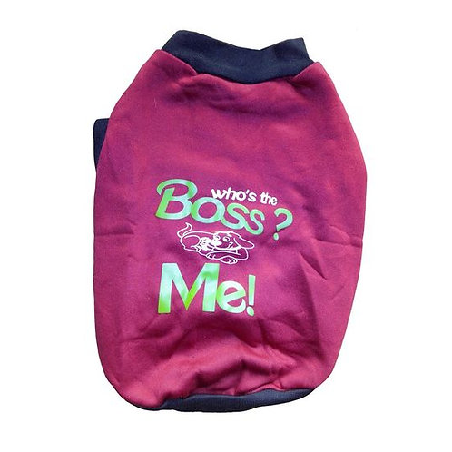 Rays Fleece Warm Rubber Print Tshirt for Toy Breed to Small Dogs