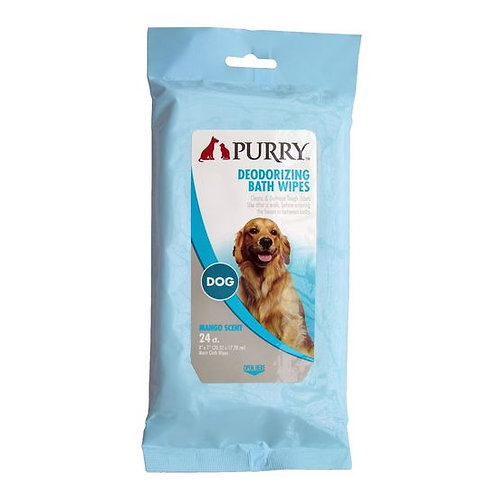 Purry Deodorising Bath Wipes for Dogs