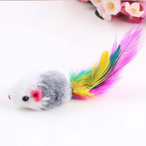 Desert Creations Furr Feather Mouse Play Cat Toy