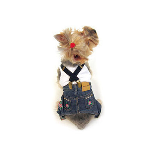 Canes Venatici Denim Jeans Pant with Suspenders for Dogs