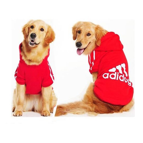 Adidog Winter Warm Hoodie Sweatshirt for Large Dogs