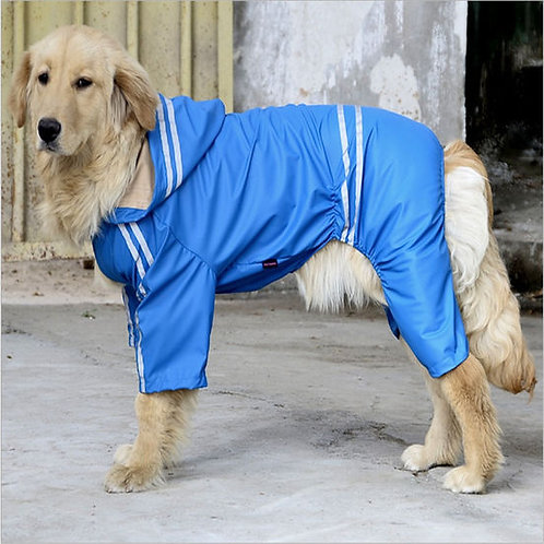 Puppy Love Reflective Jumpsuit Raincoat for Large Breed Dogs