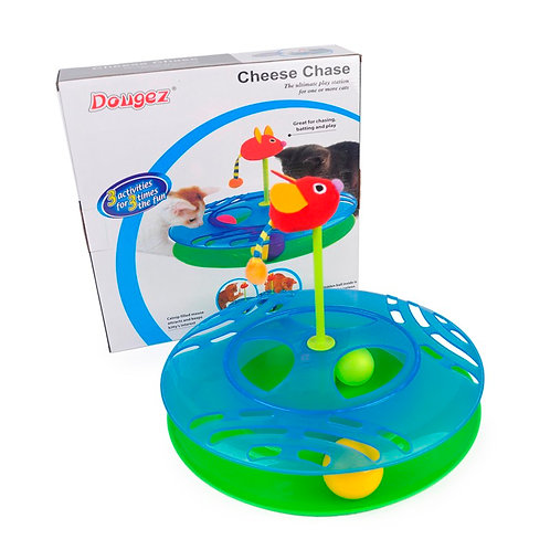 Dougez Cheese Chase Cat Toy
