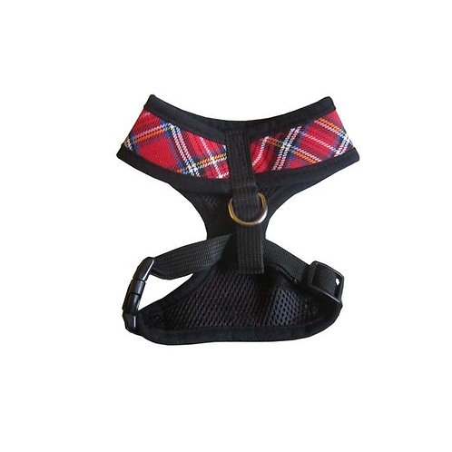 Puppy Love Checkered Cotton Vest Harness for Toy Breed Dogs