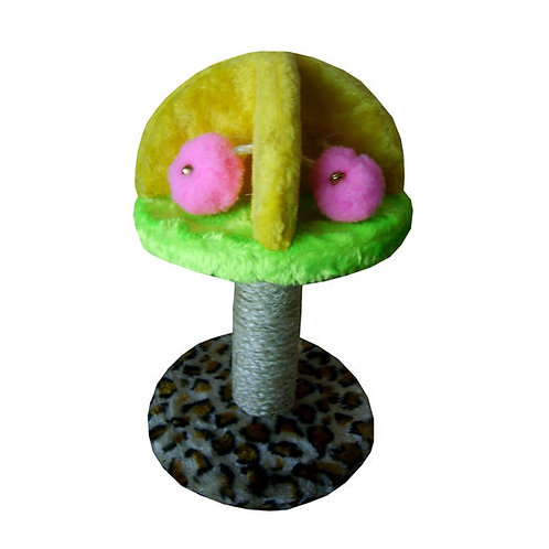 Canine Plush Scratching Cat Tree