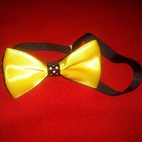 Puppy Love Designer Bow Wow Collar for Toy and Small Breed Dogs