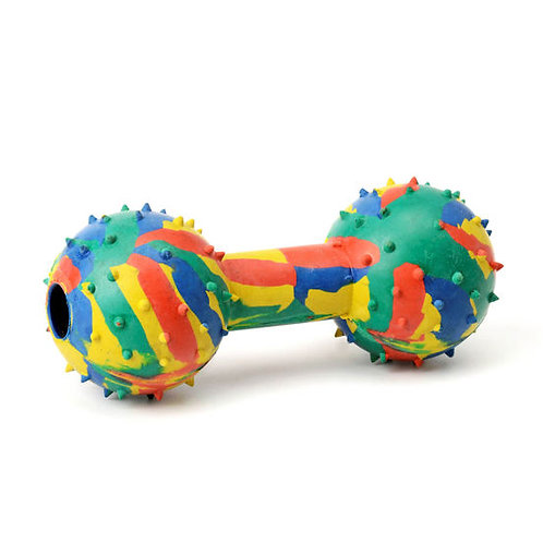 Dog Solid Rubber Musical Dumbbell Toy