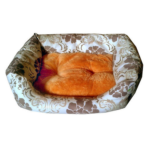 Nunbell Printed Empress Bed for Toy to Medium Dogs