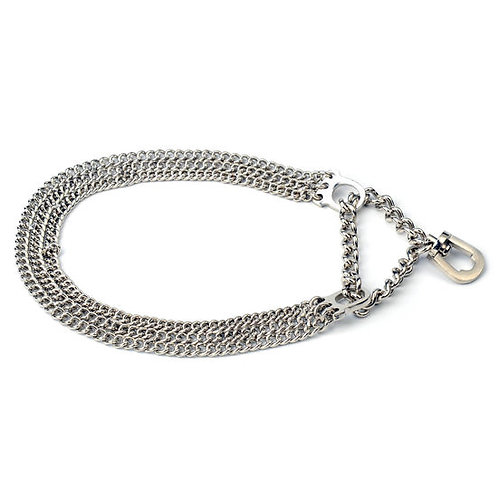 Kennel Triple Semi Choke Chain for Small Dogs
