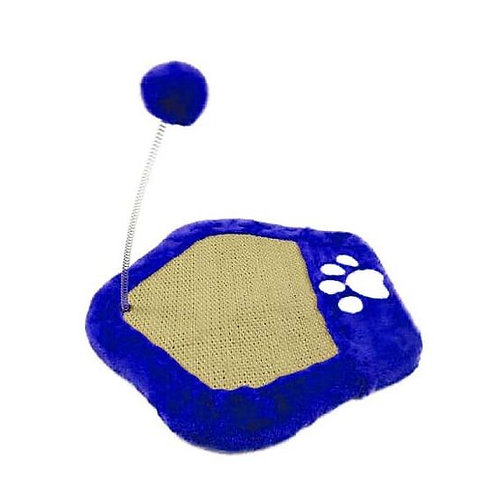Canine Paw Shape Cat Scratch Board with String Plush Ball