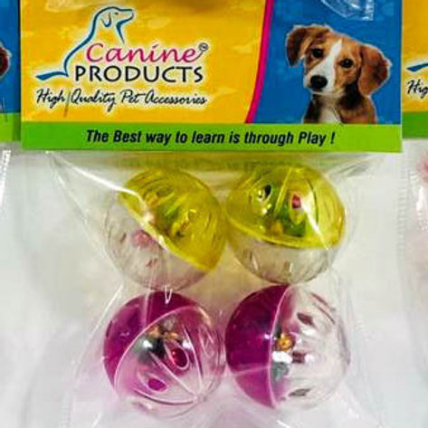 Canine Cat Toy 4 x 1 Musical Ball