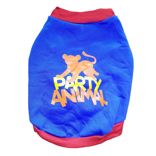 Rays Fleece Warm Rubber Print Tshirt for Toy Breed Dogs