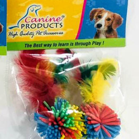 Canine Cat Toy 2 Pcs Feather