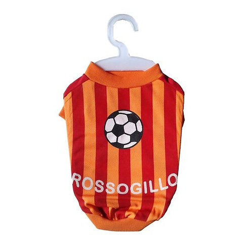 Nunbell Rossoneri Soccer Jersey or Tshirt for Small Dogs