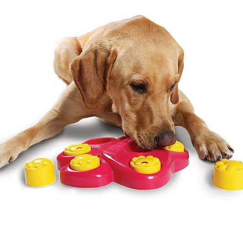 Imported Paw Shaped Puzzle Bowl Feeder Interactive Dog Toy