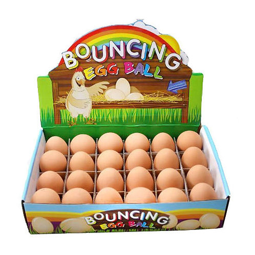 Solid Rubber Scented Crazy Bouncing Egg Toy