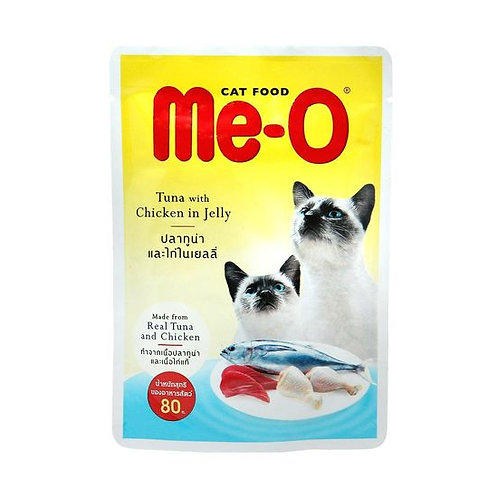 MeO Tuna with Chicken in Jelly Gravy Cat Food