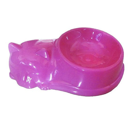Canine Plastic Cat Shaped Bowl for Cats and Dogs