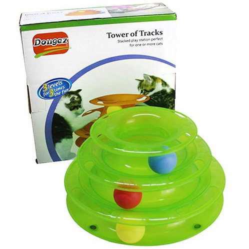 Dougez Tower of Tracks Cat Toy
