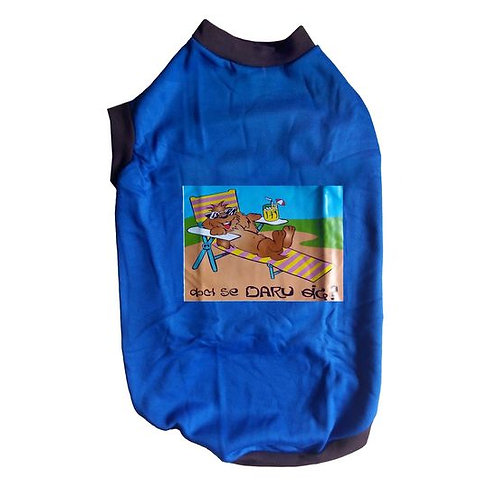 Rays Fleece Warm Rubber Print Tshirt for Large Dogs