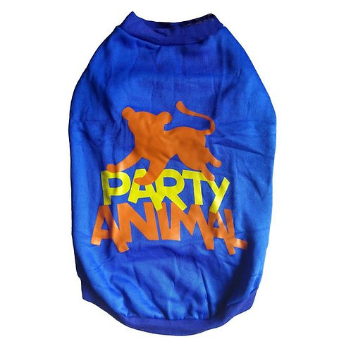 Rays Fleece Warm Rubber Print Tshirt for Medium Dogs