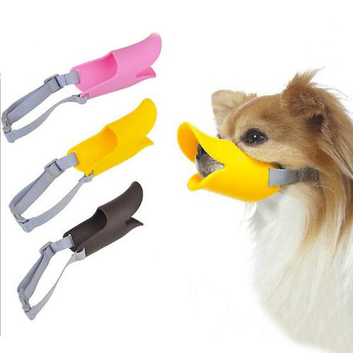 Dougez Silicone Anti Bite Duck Mouth Shape Muzzle for Toys to Medium Breed Dogs
